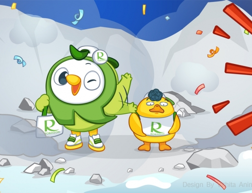 Robinson LINE Sticker Robin and Friend Dukdik