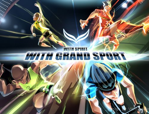 With spirit with grand sport
